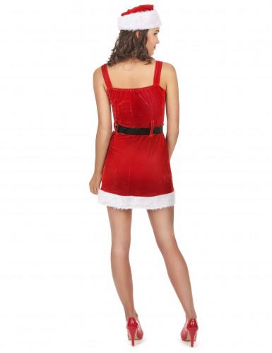 Sexy Weihnachtsfrau-Kostüm mit Gürtel-2