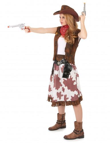 Geflecktes Cowgirl-Kostüm für Damen-1