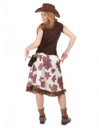 Geflecktes Cowgirl-Kostüm für Damen-2