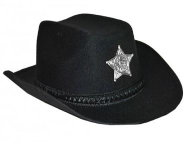 Schwarzer Cowboy-Hut