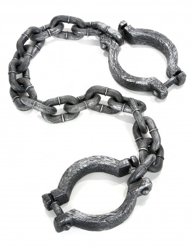 Gefangenen-Kette Kostümzubehör Fussfessel grau