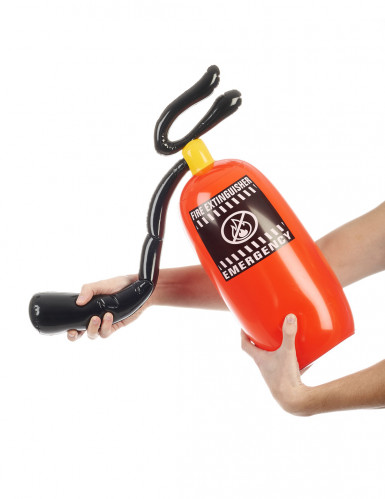 Aufblasbarer Feuerlöscher 50 cm rot für Feuerwehrmann-Kostüm-1