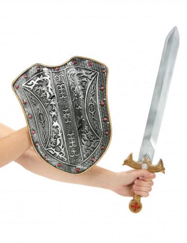 Mittelalter-Set mit Schild und Schwert-1