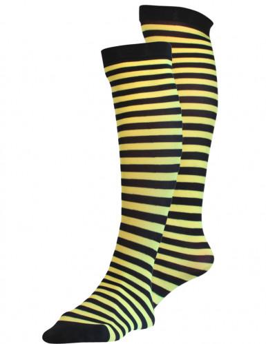 Schwarz-gelbe Strümpfe