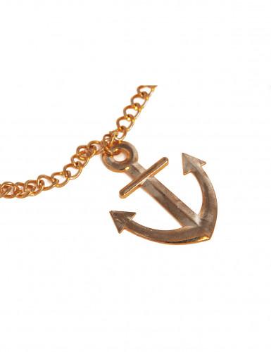 Goldene Halskette mit Anker-1