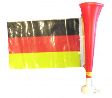 Fußball-Tröte mit Deutschland-Flagge