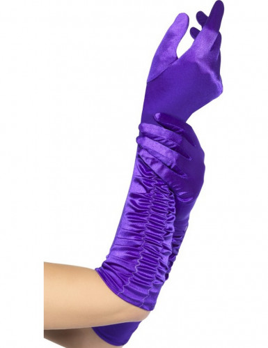Lange Handschuhe in Violett für Damen