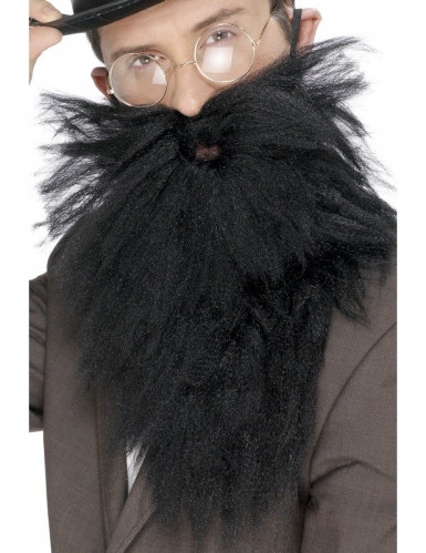 Langer, schwarzer Bart für Herren