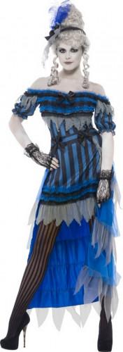 Halloween Geister-Saloon-Tänzerinnen-Kostüm für Damen