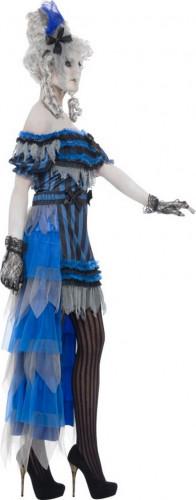 Halloween Geister-Saloon-Tänzerinnen-Kostüm für Damen-1