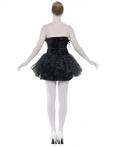 Schwarzes Tänzerinnen-Kostüm für Damen-2