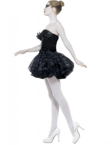 Schwarzes Tänzerinnen-Kostüm für Damen-1