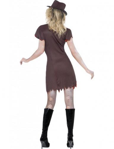 Halloween Sexy Gangster-Zombie-Kostüm für Damen-2