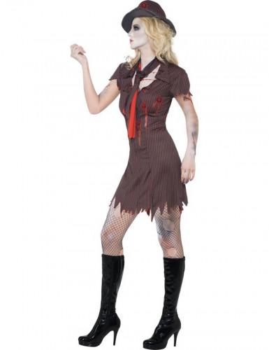 Halloween Sexy Gangster-Zombie-Kostüm für Damen-1