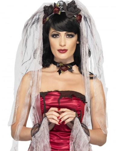 Gothic-Braut Set für Damen