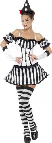 Sexy Clowns-Pantomime-Kostüm für Damen