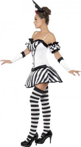 Sexy Clowns-Pantomime-Kostüm für Damen-1