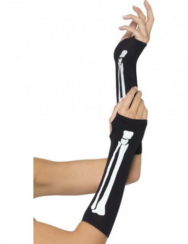 Halloween Skelett-Armstulpen für Erwachsene