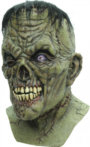 Halloween Grüne Monster-Maske für Erwachsene