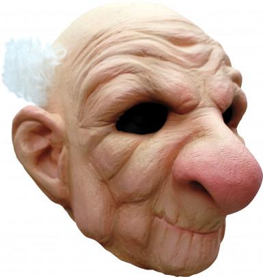 Alter Mann-Maske mit Zinken für Erwachsene