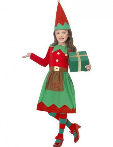 Weihnachtliches Elfen-Kostüm für Mädchen