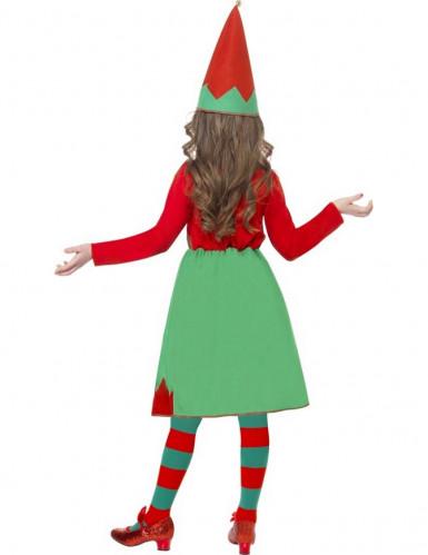 Weihnachtliches Elfen-Kostüm für Mädchen-2