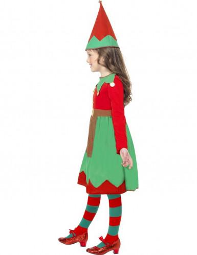 Weihnachtliches Elfen-Kostüm für Mädchen-1