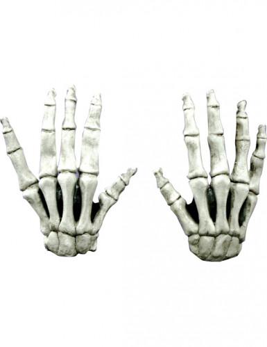 Halloween kurze Skelett-Handschuhe für Erwachsene