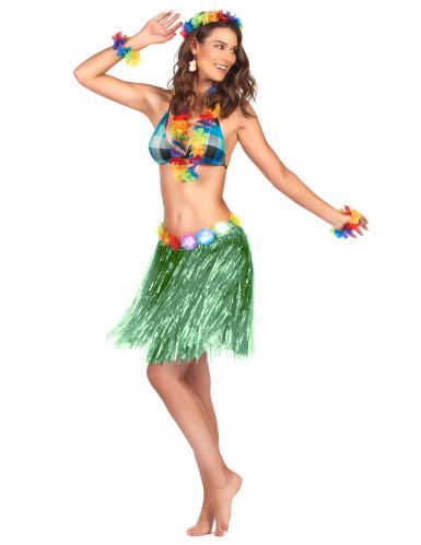 Hawaii Minirock grün für Damen