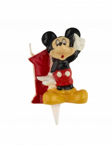 Micky Maus™ Kerze Zahl 1 bunt 6,5cm