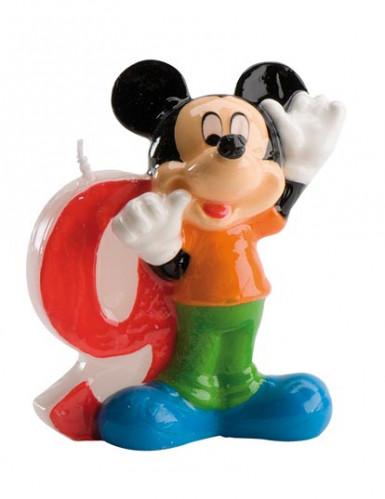 Mickey Mouse™-Kerze - Zahl 9