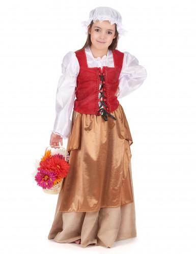 Mittelalterliches Bauern-Kostüm für Mädchen