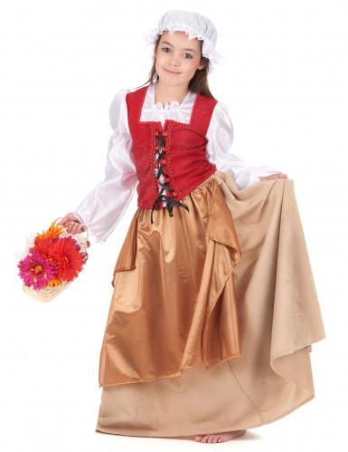 Mittelalterliches Bauern-Kostüm für Mädchen-1