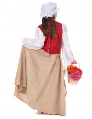 Mittelalterliches Bauern-Kostüm für Mädchen-2