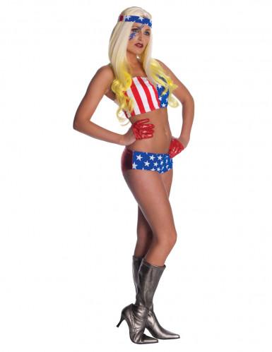 Lady Gaga™ Amerika-Kostüm für Damen