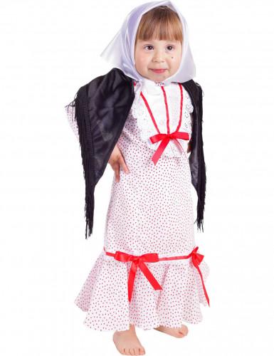 Weißes Madrileninnen-Kostüm für Babys