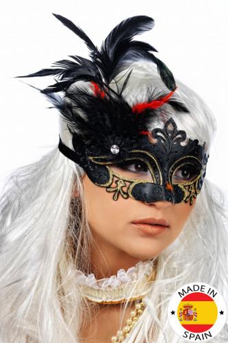 Maske mit Federn für Erwachsene