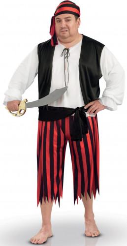 Seeräuber-Kostüm mit Kopftuch für Herren