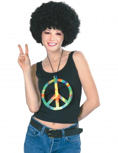 Riesige Hippie-Halskette in Regenbogenfarben