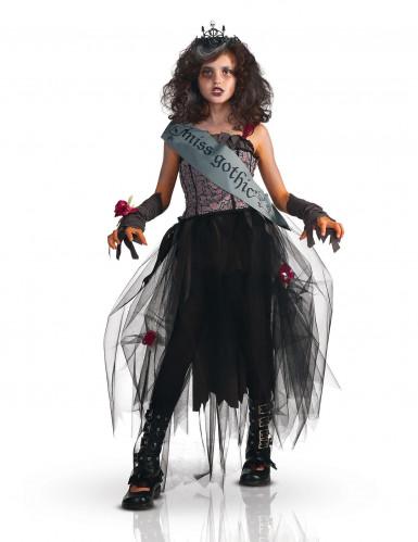 Miss Gothic-Kostüm für Mädchen