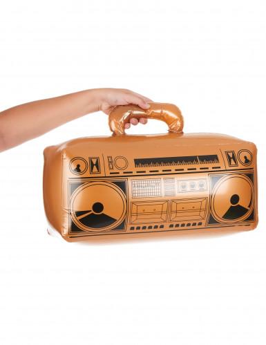 Aufblasbares goldenes Radio-1