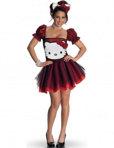 Rotes Hello Kitty™-Kostüm für Erwachsene