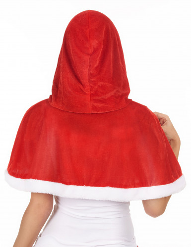 Weihnachtsfrau-Umhang mit Kapuze-1