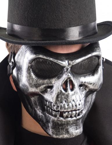 Kupferfarbene Skelett-Halbmaske für Erwachsene