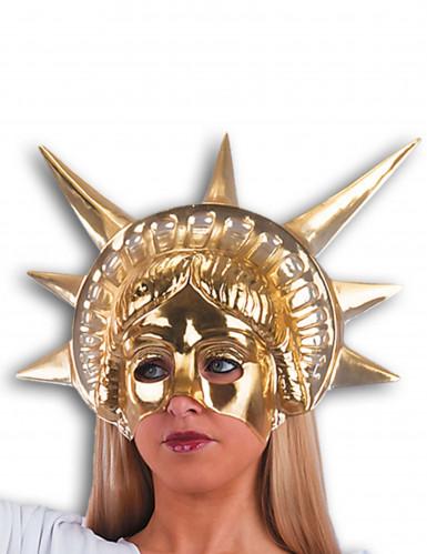 Goldene Freiheitsstatue-Halbmaske für Erwachsene