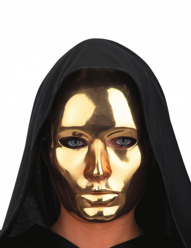 Gold glänzende Maske für Erwachsene