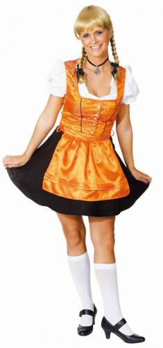 Wiesn Kostüm für Damen orange