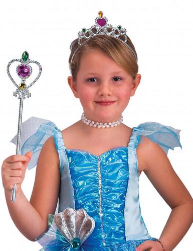 Silbernes Prinzessinnen-Set für Mädchen