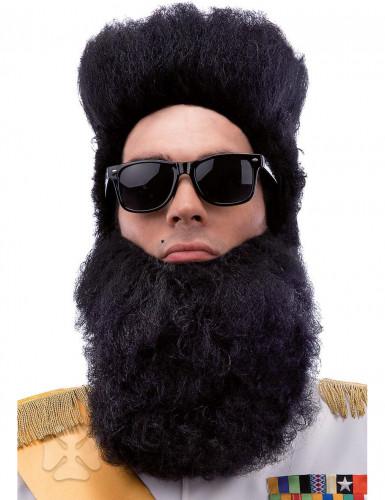 Schwarzer Diktator-Bart für Erwachsene
