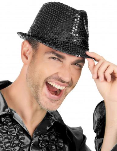 Schwarzer Glitzer-Hut für Erwachsene-1